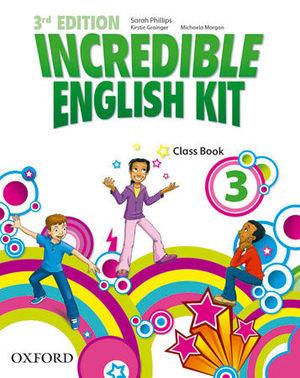 INCREDIBLE ENGLISH KIT 3  3ª EDITION CLASS BOOK ( 2014 )
