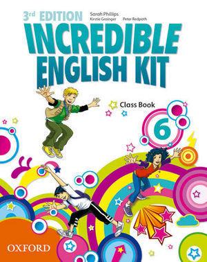 INCREDIBLE ENGLISH KIT 6  3ª EDITION CLASS BOOK ( 2014 )