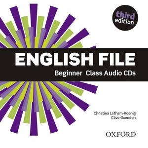 ENGLISH FILE BEGINNER 3ª ED. CLASS AUDIO CD´S
