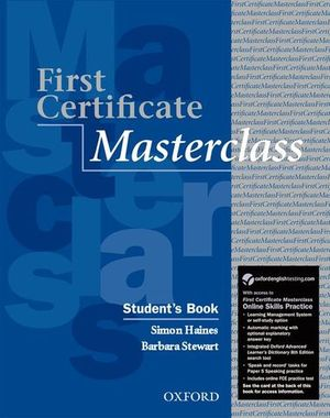 FIRST CERTIFICATE MASTERCLASS STUDENT´S BOOK PACK 2011