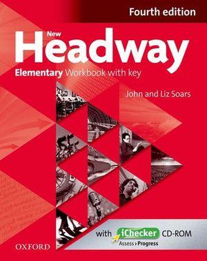 NEW HEADWAY ELEMENTARY WORKBOOK WITH KEY 4ª ED.
