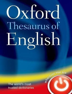 DICCIONARIO OXFORD THESARURUS OF ENGLISH