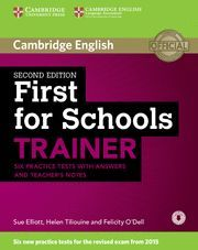 FIRST FOR SCHOOLS TRAINER SIX PRACTICE TESTS WITH ANSWERS 2015
