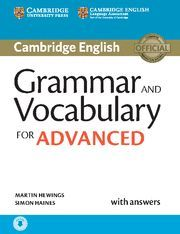 GRAMMAR AND VOCABULARY FOR ADVANCED WITH ANSWERS WITH AUDIO