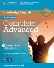 COMPLETE ADVANCED STUDENT´S BOOK WITH ANSWERS 2ª ED. + CD´S AUDIO 2015