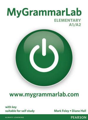 MY GRAMMAR LAB ELEMENTARY A1 / A2 WITH KEY