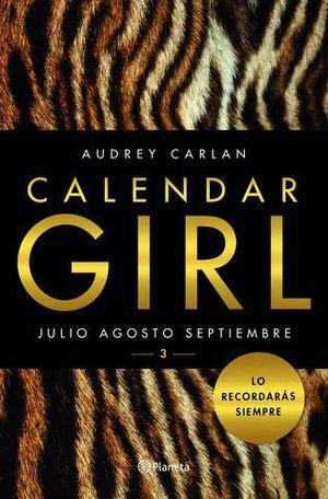 CALENDAR GIRL 3 JULIO AGOSTO SEPTIEMBRE