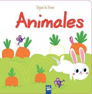 ANIMALES.  SIGUE LA LINEA