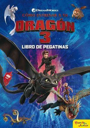 COMO ENTRENAR A TU DRAGON 3.  LIBROS DE PEGATINAS