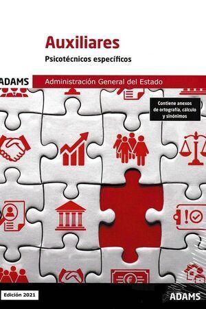 AUXILIAR ADMINISTRATIVO ESTADO PSICOTECNICO ESPECIFICO 2021