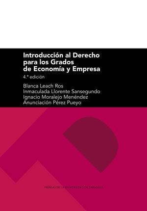 INTRODUCCION AL DERECHO PARA LOS GRADOS DE ECONOMIA Y EMPRESA