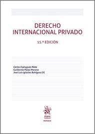 DERECHO INTERNACIONAL PRIVADO 15ED 2021