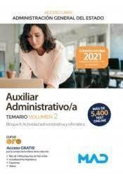 TEMARIO AUXILIAR ADMINISTRATIVO/A (ACCESO LIBRE)
