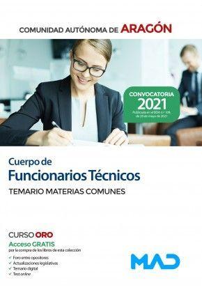 CUERPO DE FUNCIONARIOS TECNICOS DGA TEMARIO COMUN  2021