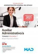 TEMARIO AUXILIAR ADMINISTRATIVO/A GENERAL DEL ESTADO