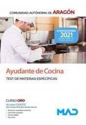 TEMARIO AYUDANTE DE COCINA ( ARAGON ) TEST MATERIA