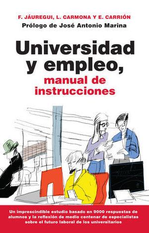 UNIVERSIDAD Y EMPLEO, MANUAL DE INSTRUCCIONES