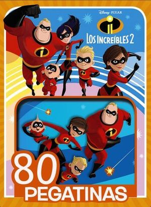 LOS INCREDIBLES 2.  80 PEGATINAS DISNEY