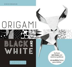 ORIGAMI. BLACK AND WHITE.