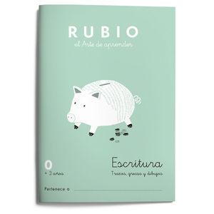 CUADERNILLOS RUBIO ESCRITURA 0 +3AÑOS.ED2021