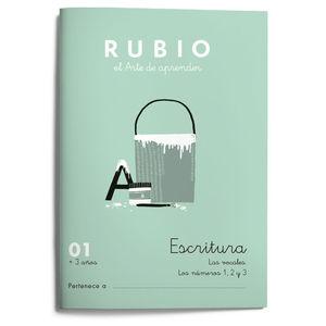 CUADERNO ESCRITURA RUBIO 01 +3AÑOS ED.2021