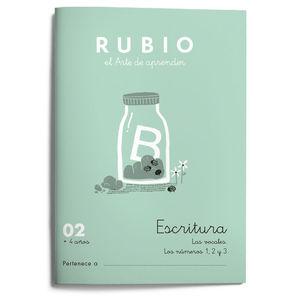 CUADERNILLOS RUBIO ESCRITURA 02 +4 AÑOS.ED.2021