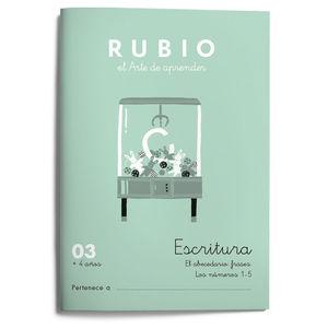 CUADERNILLOS RUBIO ESCRITURA 03 +4 AÑOS ED.2021