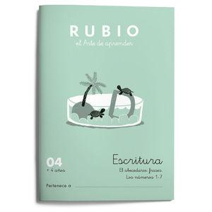 CUADERNILLOS RUBIO ESCRITURA 04 +4 AÑOS ED.2021