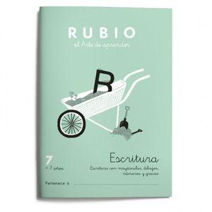 CUADERNILLO RUBIO ESCRITURA 7 +7 AÑOS