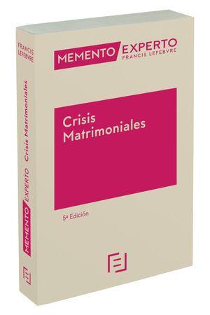 MEMENTO EXPERTO CRISIS MATRIMONIALES 5ª EDC.