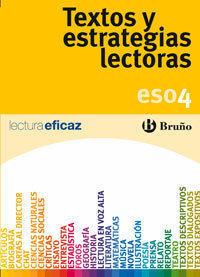 TEXTOS Y ESTRATEGIAS LECTORAS 4º ESO