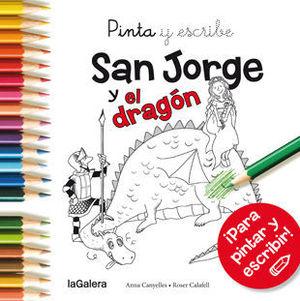 SAN JORGE Y EL DRAGON PINTA Y ESCRIBE