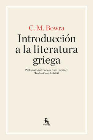 INTRODUCCION A LA LITERATURA GRIEGA