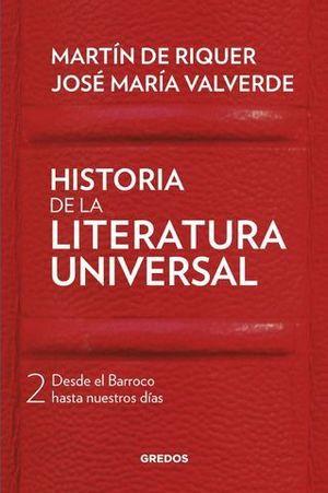 HISTORIA DE LA LITERATURA UNIVERSAL VOLUMEN 2