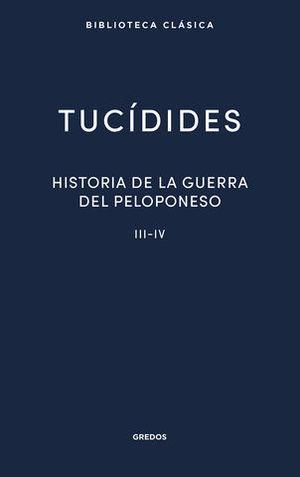 HISTORIA DE LA GUERRA EL PELOPONESO III - IV