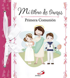 MI LIBRO DE FIRMAS ROSA PRIMERA COMUNION