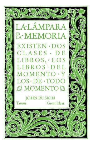 LA LAMPARA DE LA MEMORIA