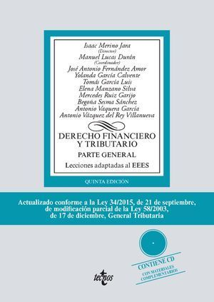 DERECHO FINANCIERO Y TRIBUTARIO PARTE GENERAL 5ª ED.