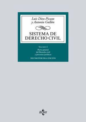 SISTEMA DE DERECHO CIVIL VOLUMEN I 13ª ED. 2016