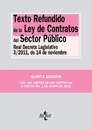 TEXTO REFUNDIDO LEY CONTRATOS SECTOR PUBLICO 5ª ED. 2016