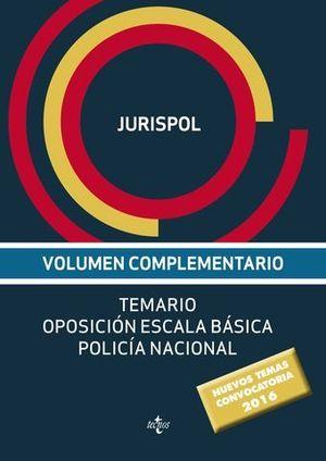 TEMARIO POLICIA NACIONAL ESCALA BASICA ED. 2016
