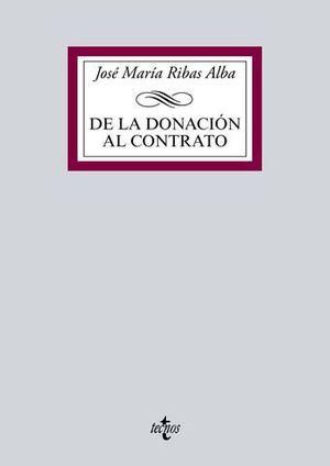 DE LA DONACION AL CONTRATO