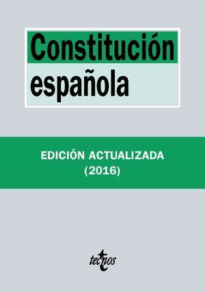 CONSTITUCION ESPAÑOLA ED. 2016 -CURSO 2018