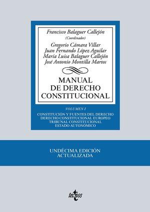MANUAL DE DERECHO CONSTITUCIONAL VOLUMEN I 11ª ED. 2016