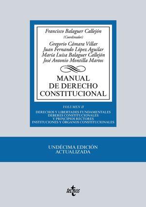 MANUAL DE DERECHO CONSTITUCIONAL VOLUMEN II 11ª ED. 2016