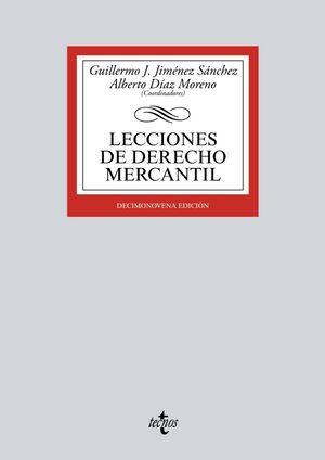 LECCCIONES DE DERECHO MERCANTIL 19ª ED. 2016