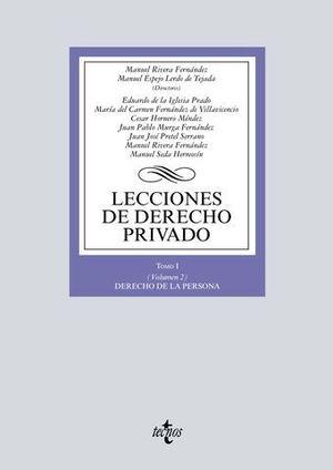 LECCIONES DE DERECHO PRIVADO TOMO I VOL 2