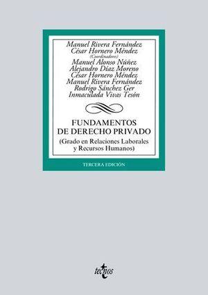 FUNDAMENTOS DE DERECHO PRIVADO 3ª ED. 2016