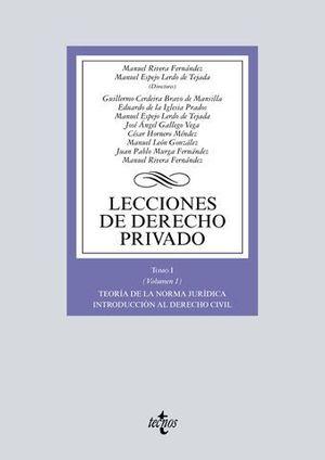LECCIONES DE DERECHO PRIVADO TOMO 1-VOL. 1 TEORIA DE LA NORMA JURIDICA