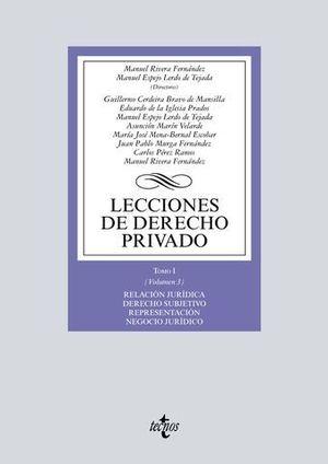 LECCIONES DE DERECHO PRIVADO  TOMO 1-VOL. 3  RELACION JURIDICA